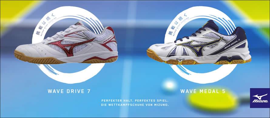 Die Schuhe der Stars: Mizuno Tischtennis