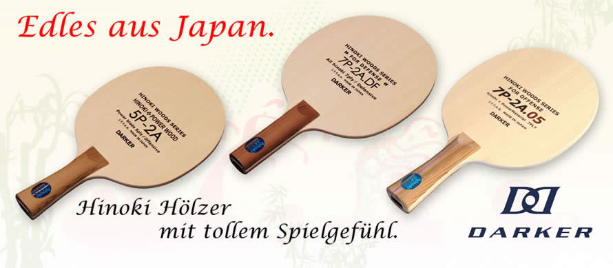 Edle Hinoki-Hölzer von Darker (made in Japan)