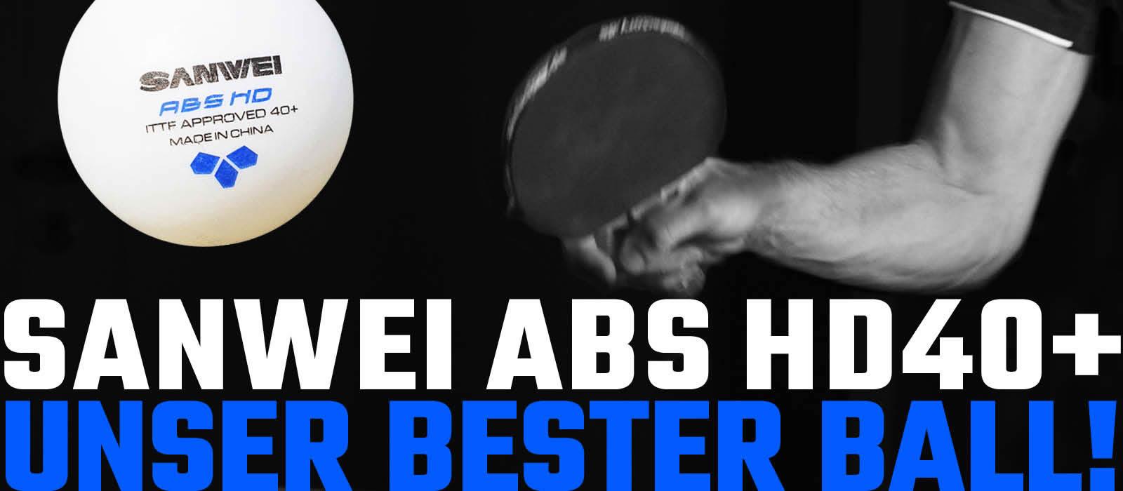 Sanwei Tischtennisball ABS HD40+