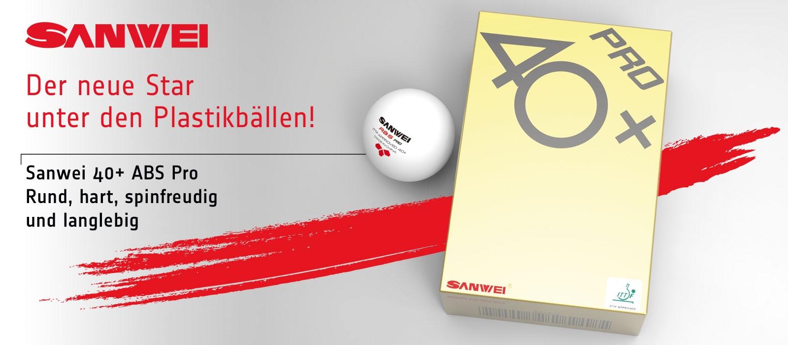 Sanwei - ABS Tischtennisbälle