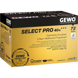 Gewo 3-Sterne Wettkampfball Select Pro 40+ 72er Box weiss