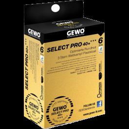 Tischtennisball Gewo Select Pro 40+ 6er
