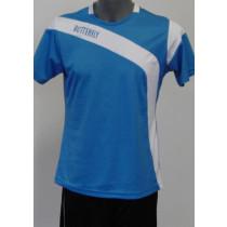 Butterfly Shirt Yasu Baumwolle blau (Front)