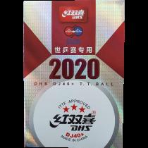 Tischtennisball - DHS DJ40+ 6er Packung