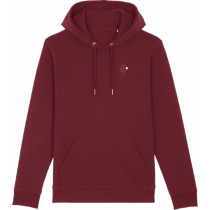 PING PONG PEOPLE Timeless Hoodie Bordeaux Ansicht 1