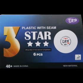 40+ Three Star Ball ITTF 6 Stück mit Naht