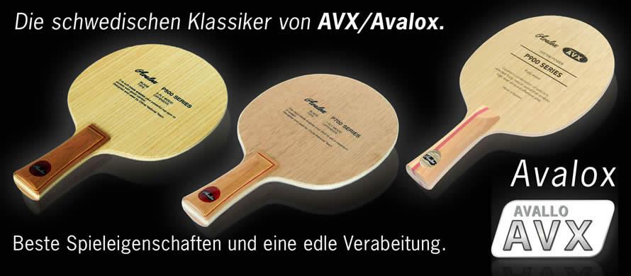 Tischtennis-Hölzer: Avalox P-Serie